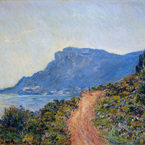 Monet - A coastal view with a bay