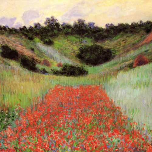 Monet - Poppy Field of Flowers in Giverny_mini